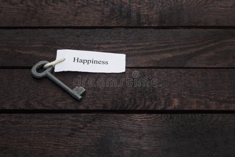 Sleutel tot geluk royalty-vrije stock foto's