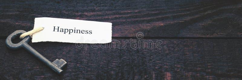 Sleutel tot geluk Gestemd beeld stock foto