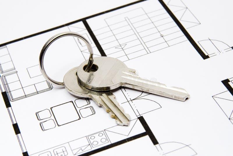 Sleutel tot huisvesting stock fotografie