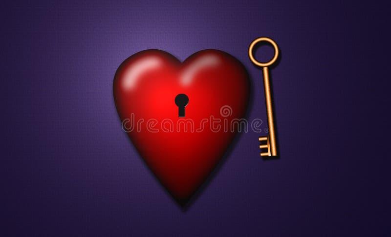 Sleutel tot mijn hart stock illustratie