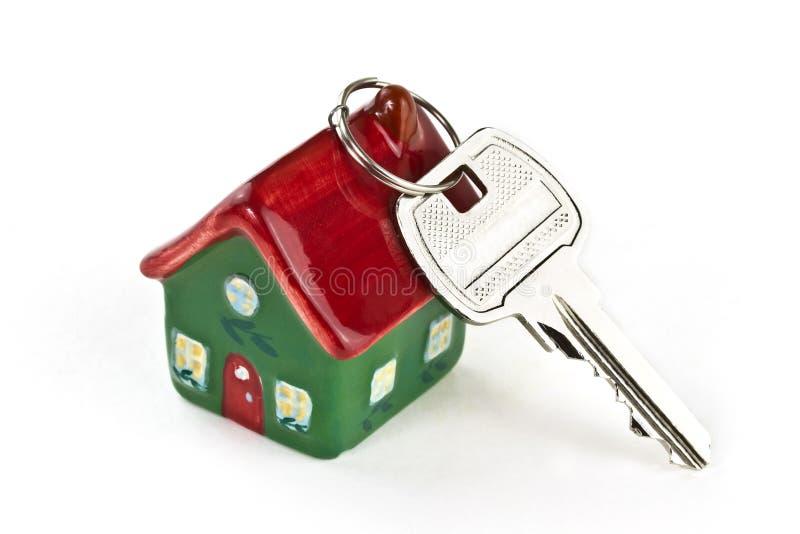 Sleutel tot nieuw huis stock fotografie