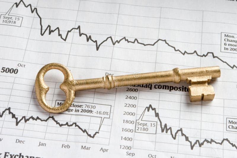 Sleutel tot rijkdom royalty-vrije stock foto