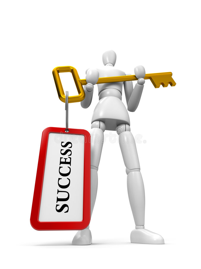 Sleutel tot succes stock illustratie