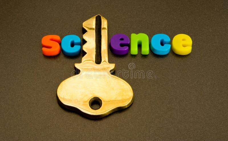 Sleutel tot wetenschap. stock afbeelding