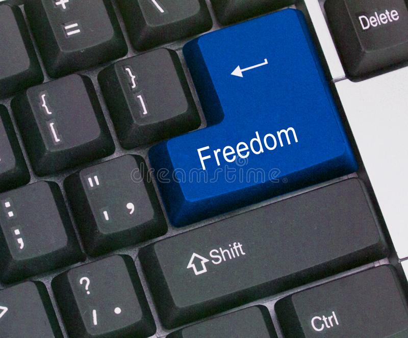 Sleutel voor vrijheid royalty-vrije stock foto's