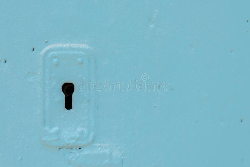 Sleutelgat in een oude deur met een interessante textuur, een rest van royalty-vrije stock foto's