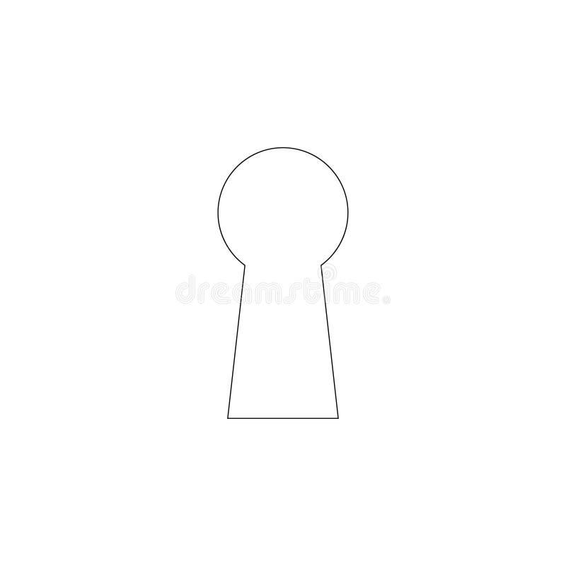 Sleutelgat Vlak vectorpictogram royalty-vrije illustratie