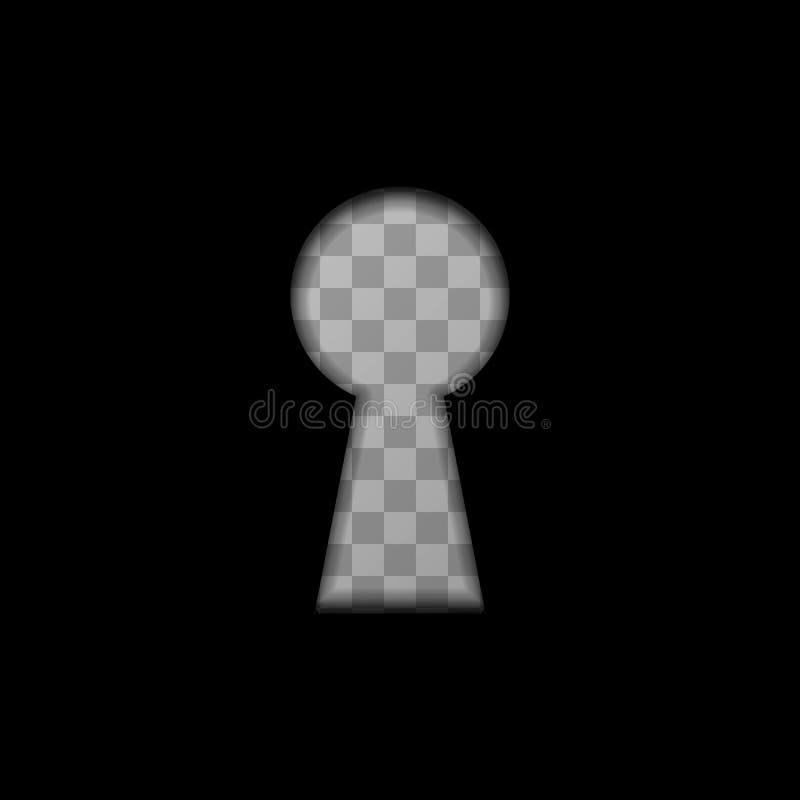 Sleutelgatvorm op transparante achtergrond royalty-vrije illustratie