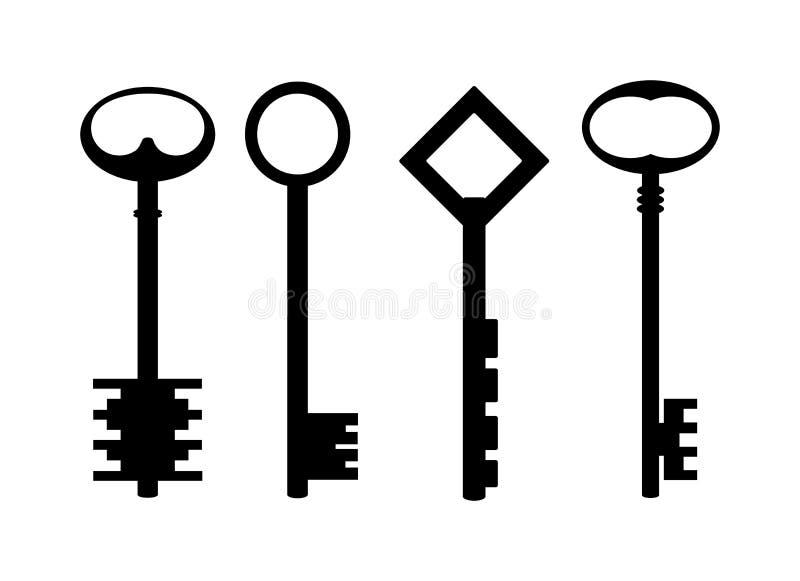 Sleutels. stock illustratie