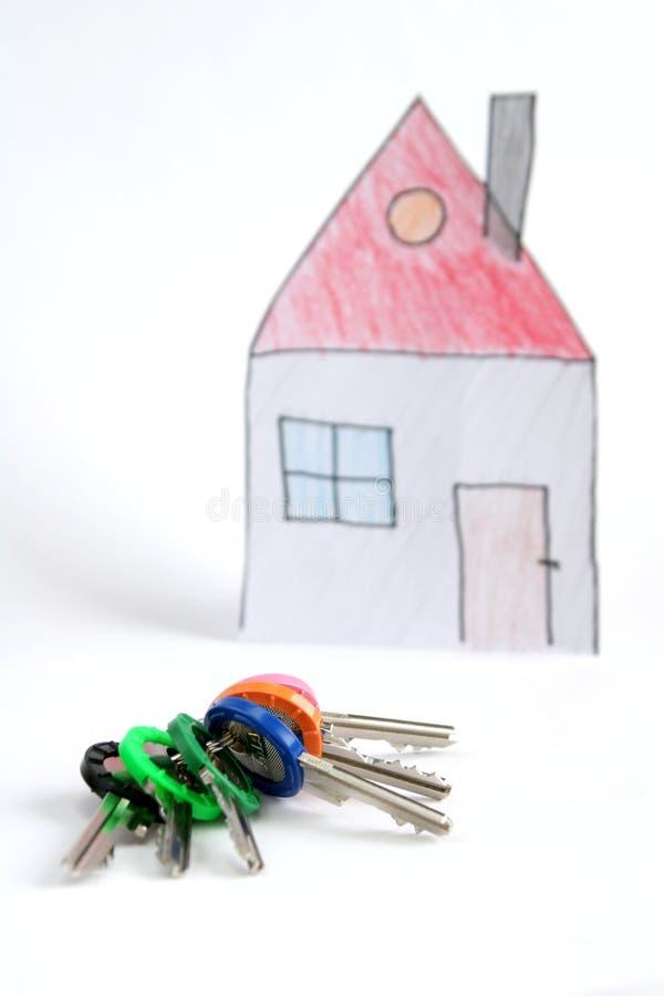 Sleutels en huis royalty-vrije stock foto's