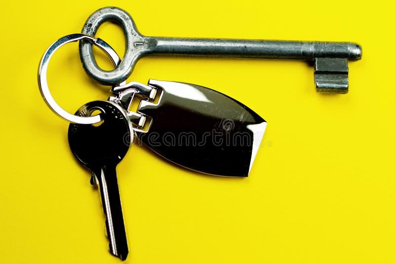 Sleutels en sleutelring stock afbeelding