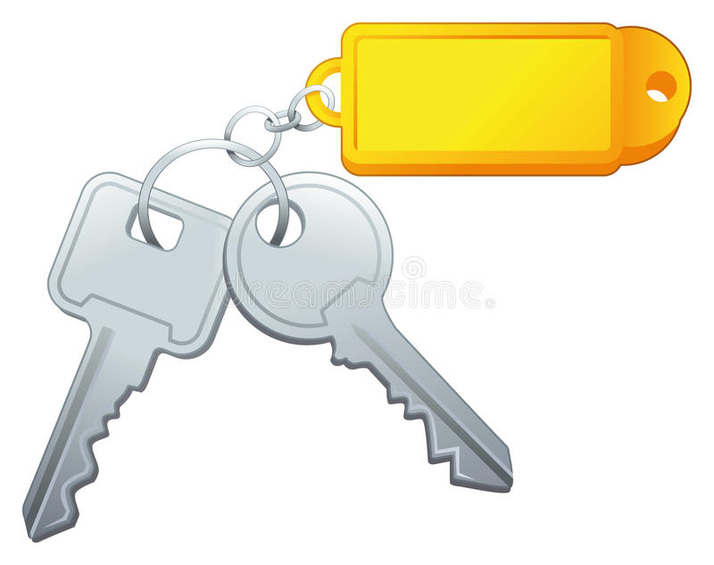 Sleutels met etiket. royalty-vrije illustratie