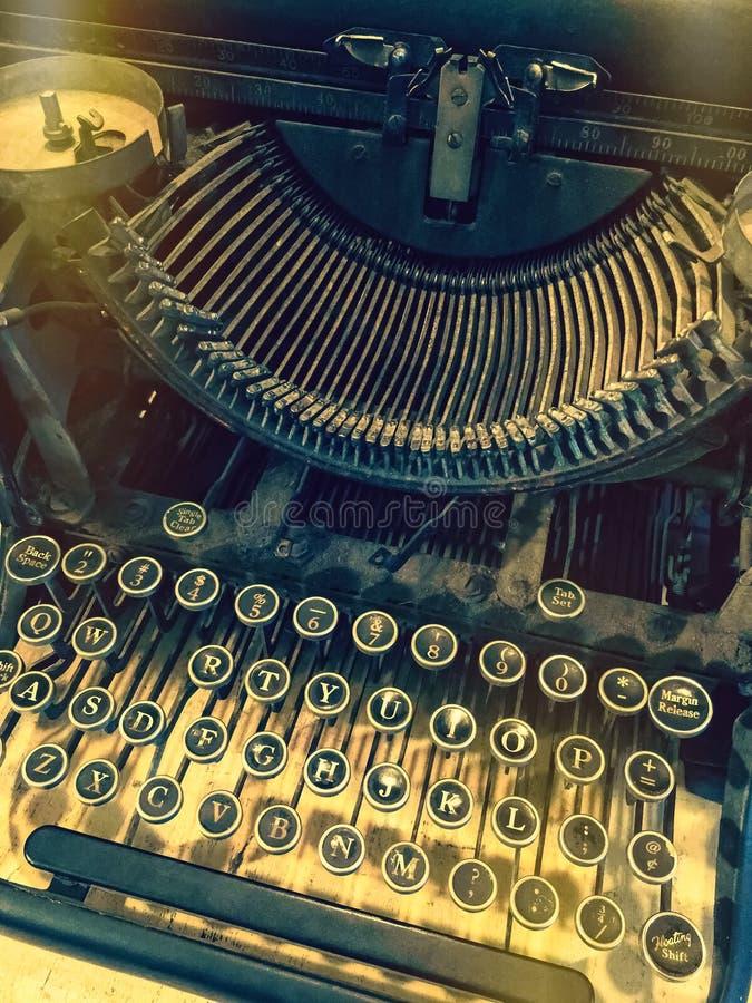 Sleutels van een uitstekende schrijfmachine stock foto