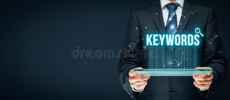 sleutelwoorden royalty-vrije stock afbeeldingen