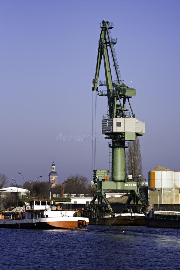 Free Slewing Crane Port Royalty Free Stock Photos - 8273458