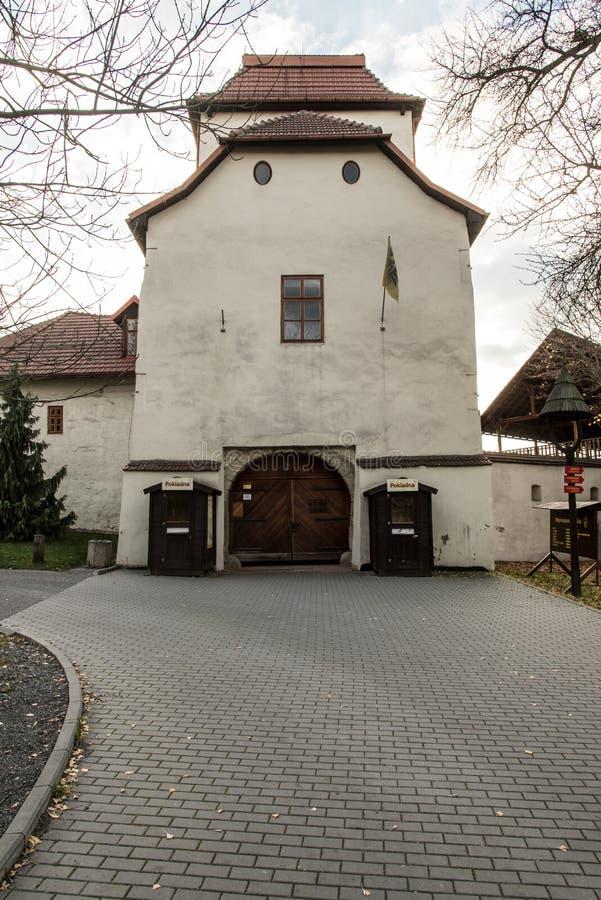 Slezskoostravsky hrad kasztel w Ostrava mieście w republika czech obrazy stock