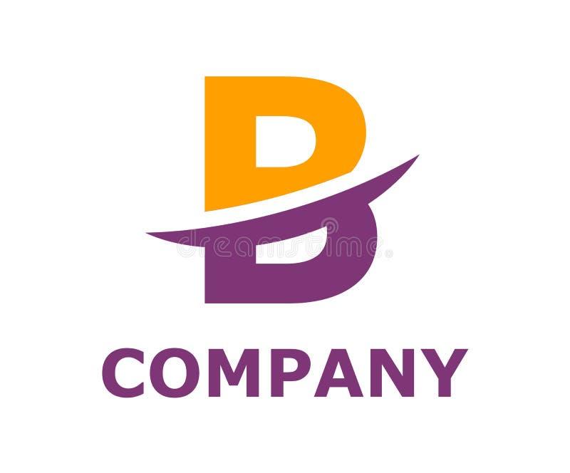 Slice alphabet logo b. Orange and purple color logo symbol slice type letter b by blade initial business logo design idea illustration shape for modern premium stock illustration