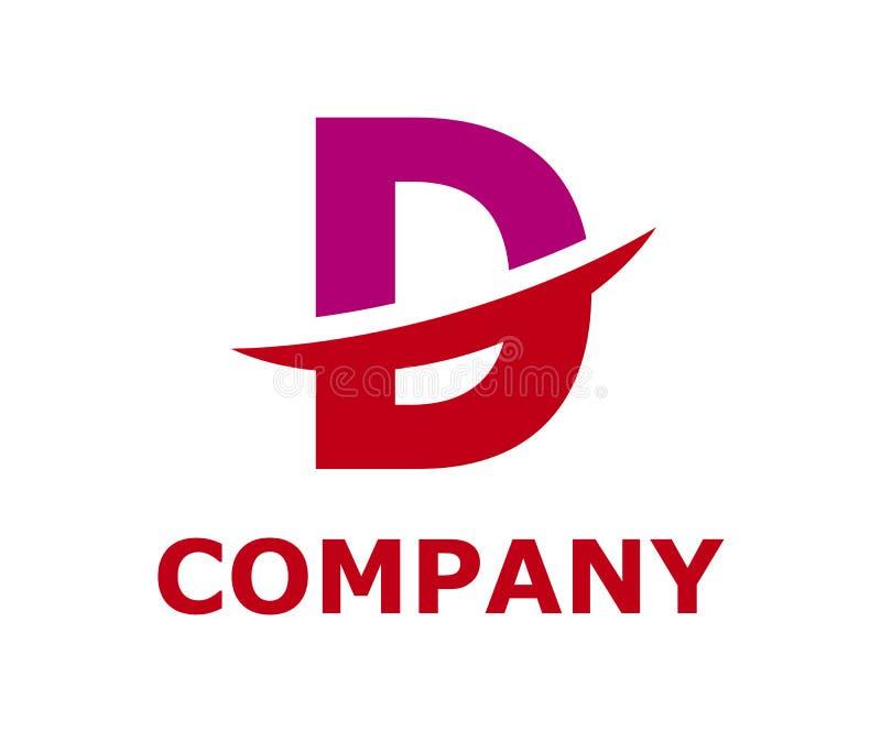 Slice alphabet logo d. Pink and red color logo symbol slice type letter d by blade initial business logo design idea illustration shape for modern premium royalty free illustration