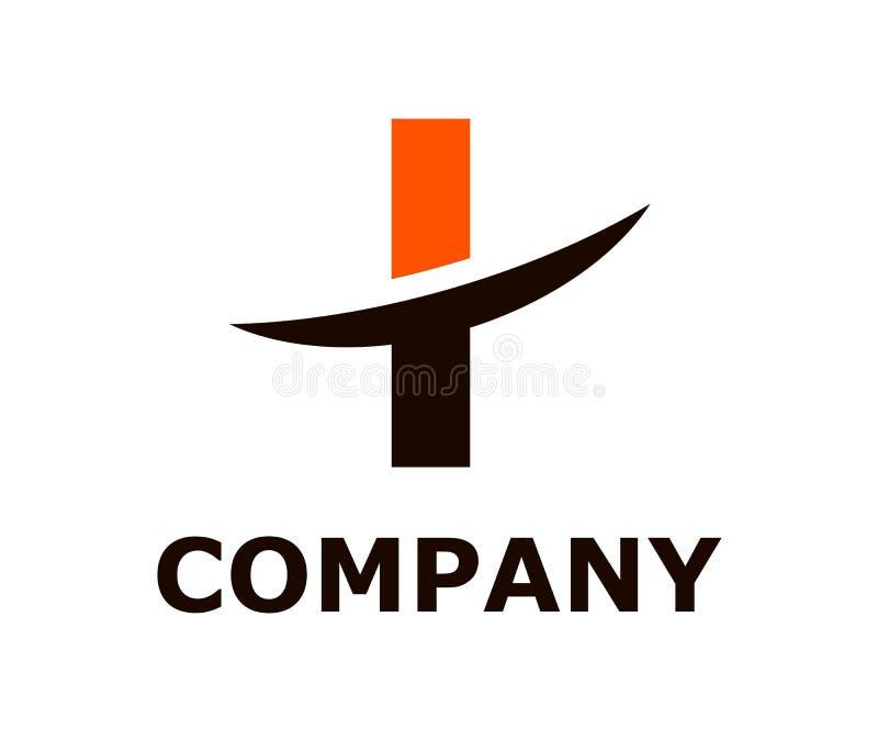 Slice alphabet logo i. Black and orange color logo symbol slice type letter i by blade initial business logo design idea illustration shape for modern premium royalty free illustration