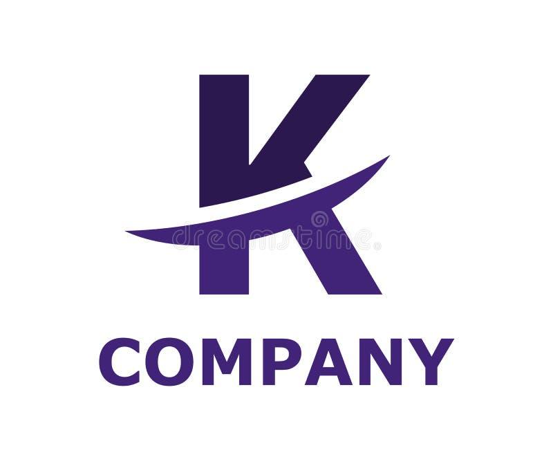 Slice alphabet logo k. Dark blue and violet color logo symbol slice type letter k by blade initial business logo design idea illustration shape for modern vector illustration