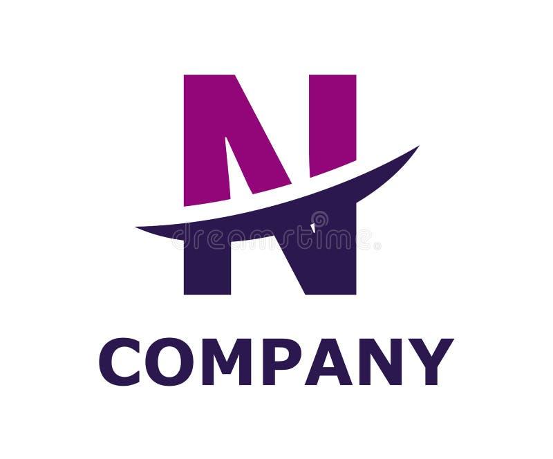 Slice alphabet logo n. Purple and violet color logo symbol slice type letter n by blade initial business logo design idea illustration shape for modern premium vector illustration