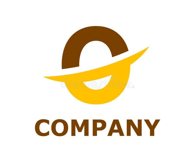 Slice alphabet logo o. Brown and orange color logo symbol slice type letter o by blade initial business logo design idea illustration shape for modern premium royalty free illustration