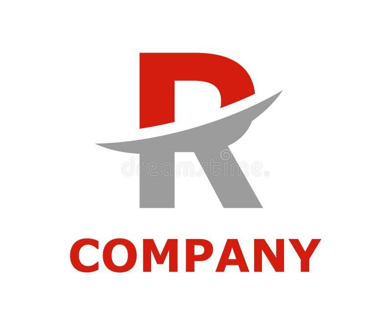 Slice alphabet logo r. Red and light grey color logo symbol slice type letter r by blade initial business logo design idea illustration shape for modern premium royalty free illustration