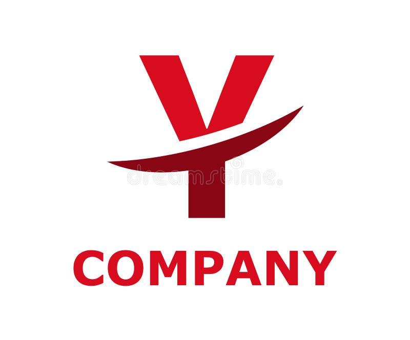 Slice alphabet logo y. Pink and dark red color logo symbol slice type letter y by blade initial business logo design idea illustration shape for modern premium stock illustration