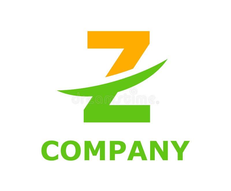 Slice alphabet logo z. Light orange and green lime color logo symbol slice type letter z by blade initial business logo design idea illustration shape for modern vector illustration