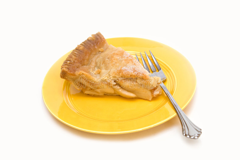 Slice American Apple Pie royalty free stock photos