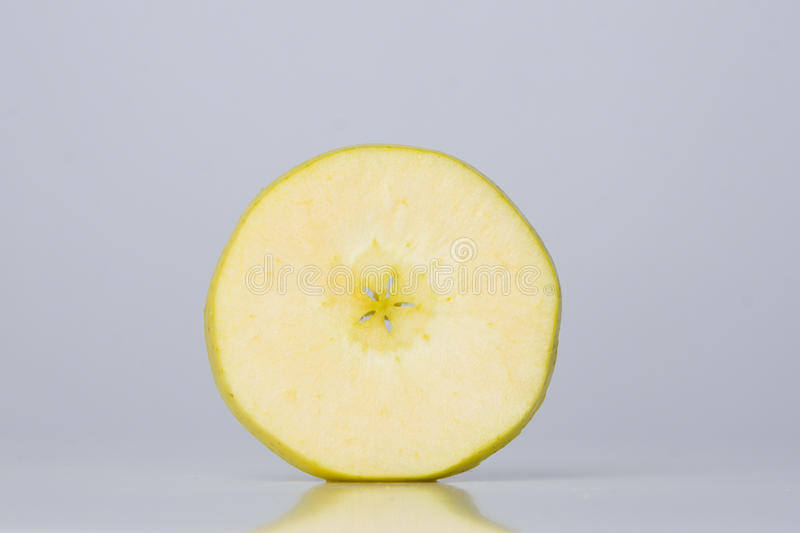 Slice of apple royalty free stock photos