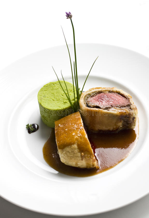Download Slice of beef wellington stock photo. Image of meal, reataurant - 23308678