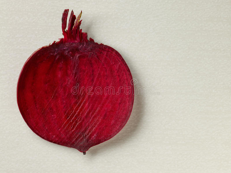 Slice of beetroot royalty free stock photos