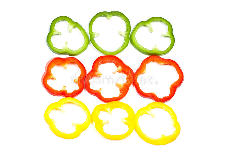 Slice Bell Pepper royalty free stock photography