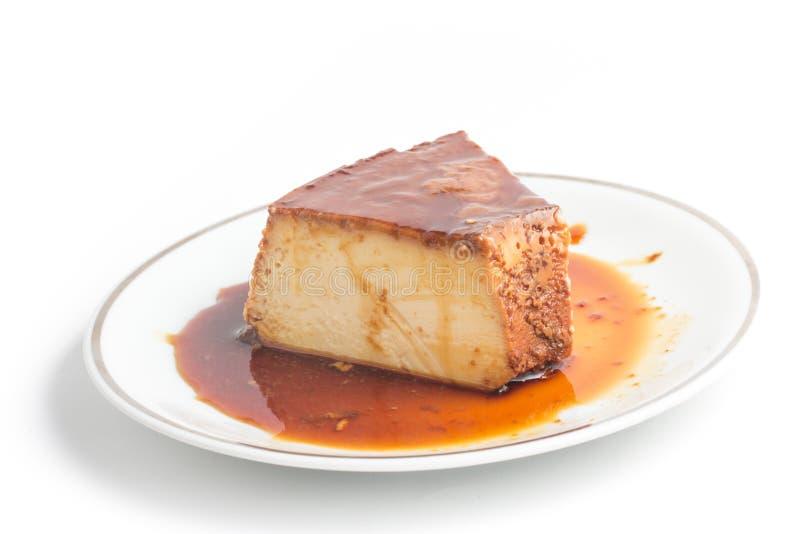 Slice of Brazilian Milk Pudding royalty free stock photography
