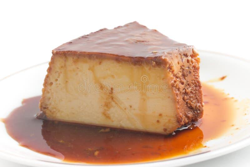 Slice of Brazilian Milk Pudding royalty free stock images