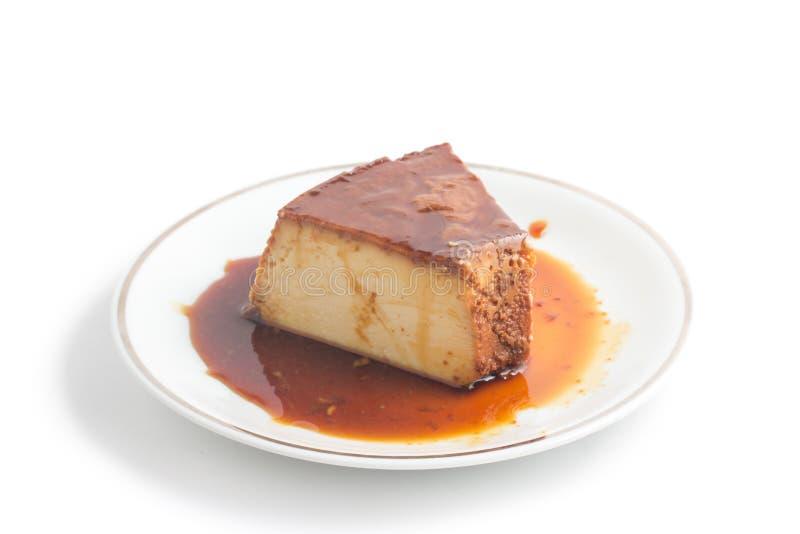 Slice of Brazilian Milk Pudding royalty free stock image