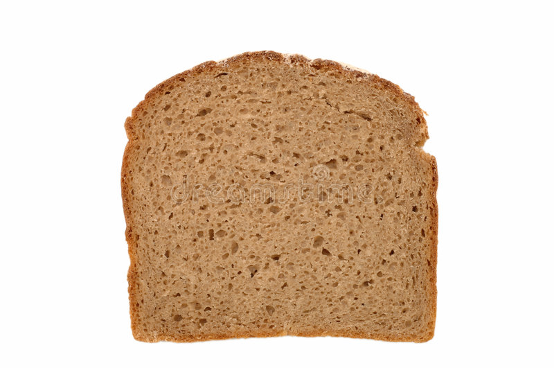 Slice of bread. Isolated image stock image