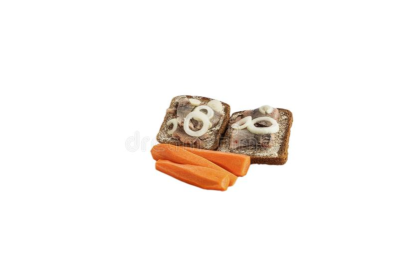Slice of bread with additives royalty free stock images