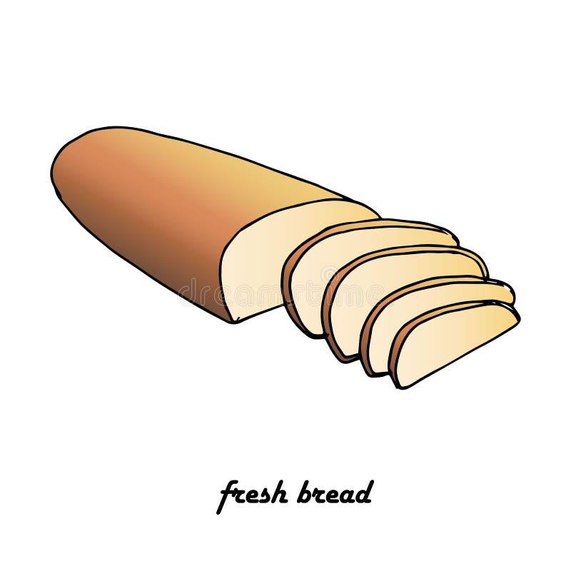 Slice bread, Fresh bread, flat design element vector illustration