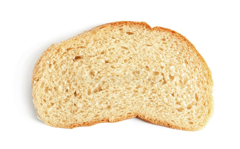 Slice of bread on background royalty free stock photography
