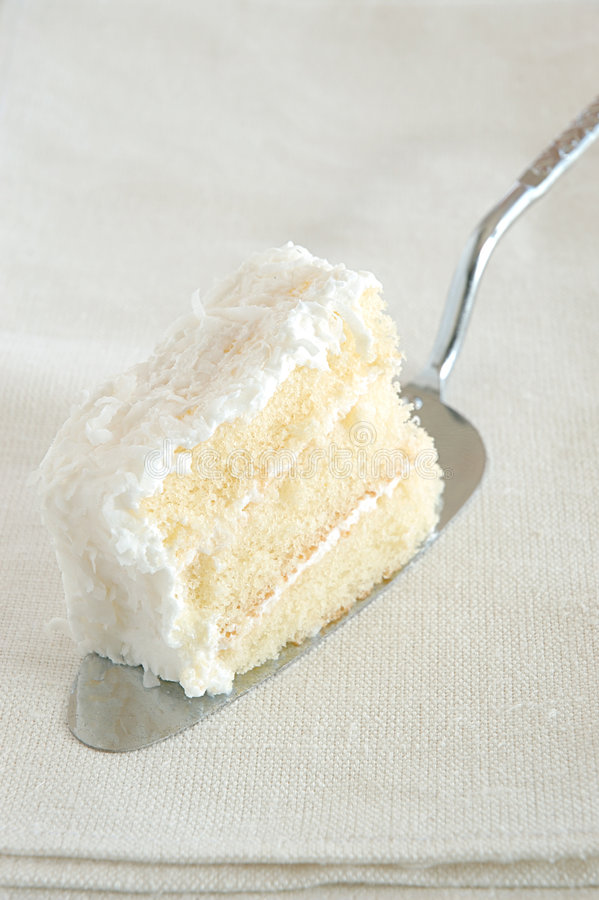 Slice of cake stock image