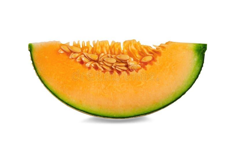Slice of Cantaloupe melon stock image