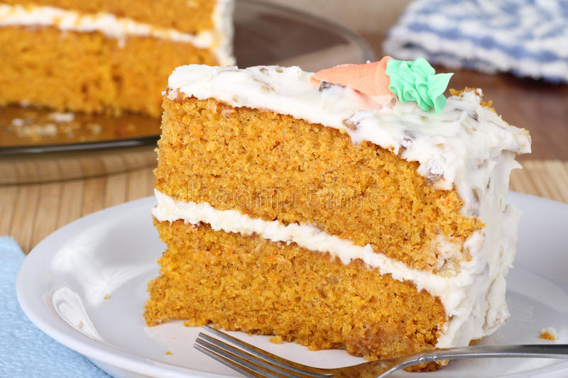 Slice of Carrrot Cake royalty free stock images