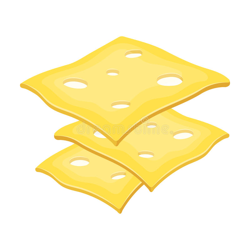 Slice cheese for a sandwich.Burgers and ingredients single icon in cartoon style vector symbol stock illustration. Slice cheese for a sandwich.Burgers and vector illustration