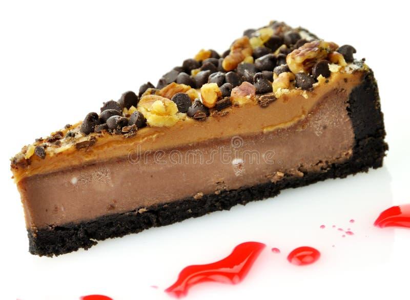 Slice of cheesecake stock photo