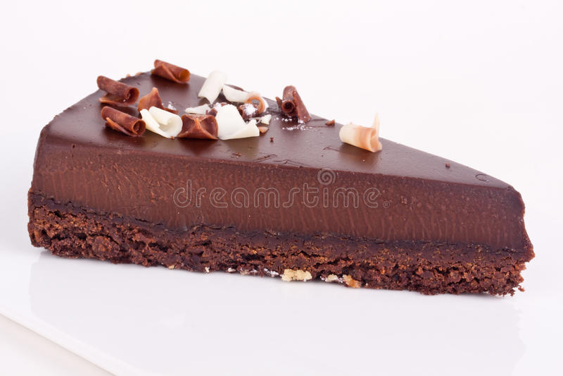 Chocolate cheesecake royalty free stock image
