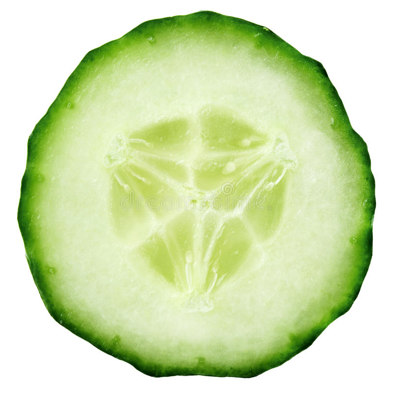 Slice of cucumber royalty free stock images