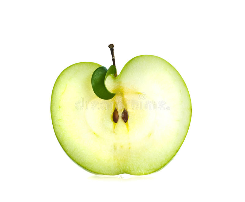Slice of fresh apple. royalty free stock images
