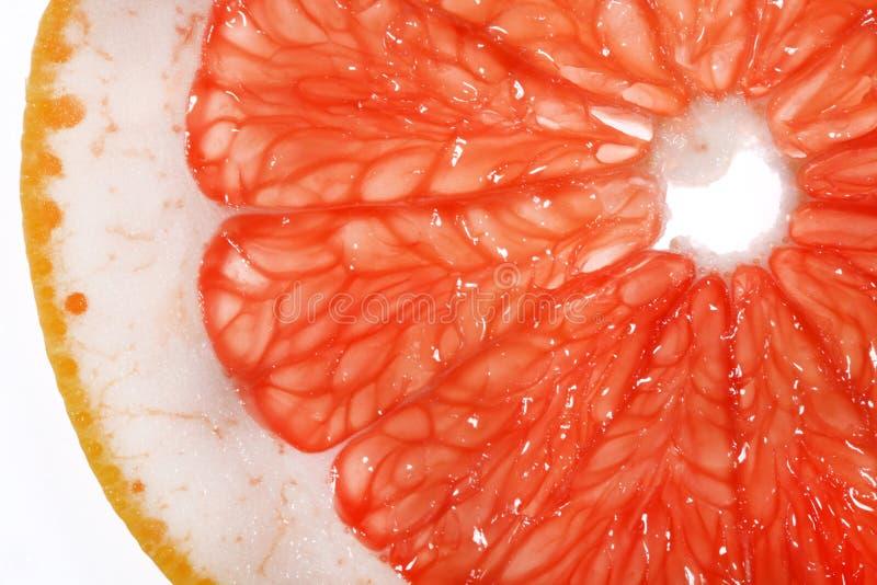 Slice of grapefruit. Isolated on white background royalty free stock image